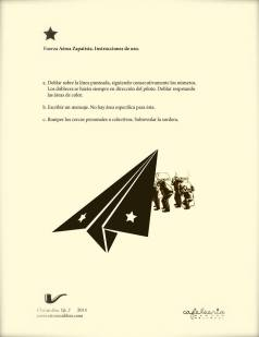 FAZ (Fuerza Aérea Zapatista), Op.4, C'est un livre + Cafeleería, 2014.